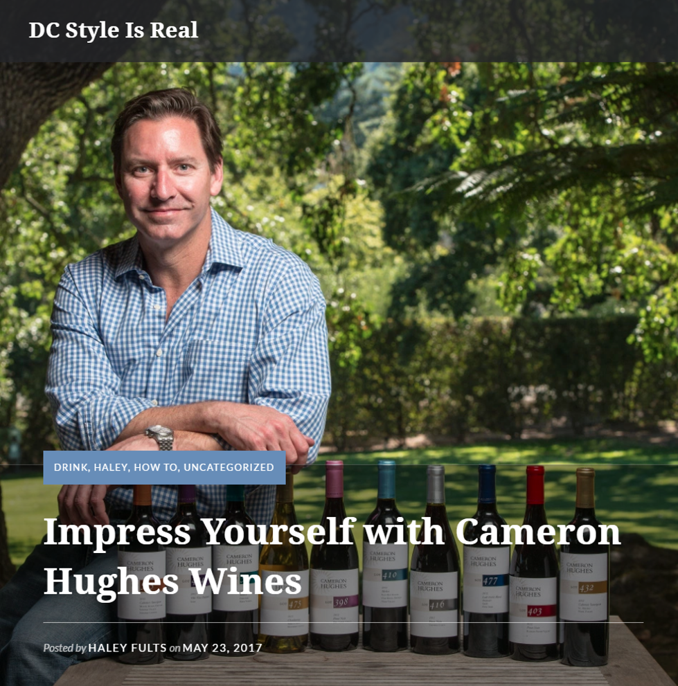 DC Style Is Real: Impress Yourself with Cameron Hughes Wine