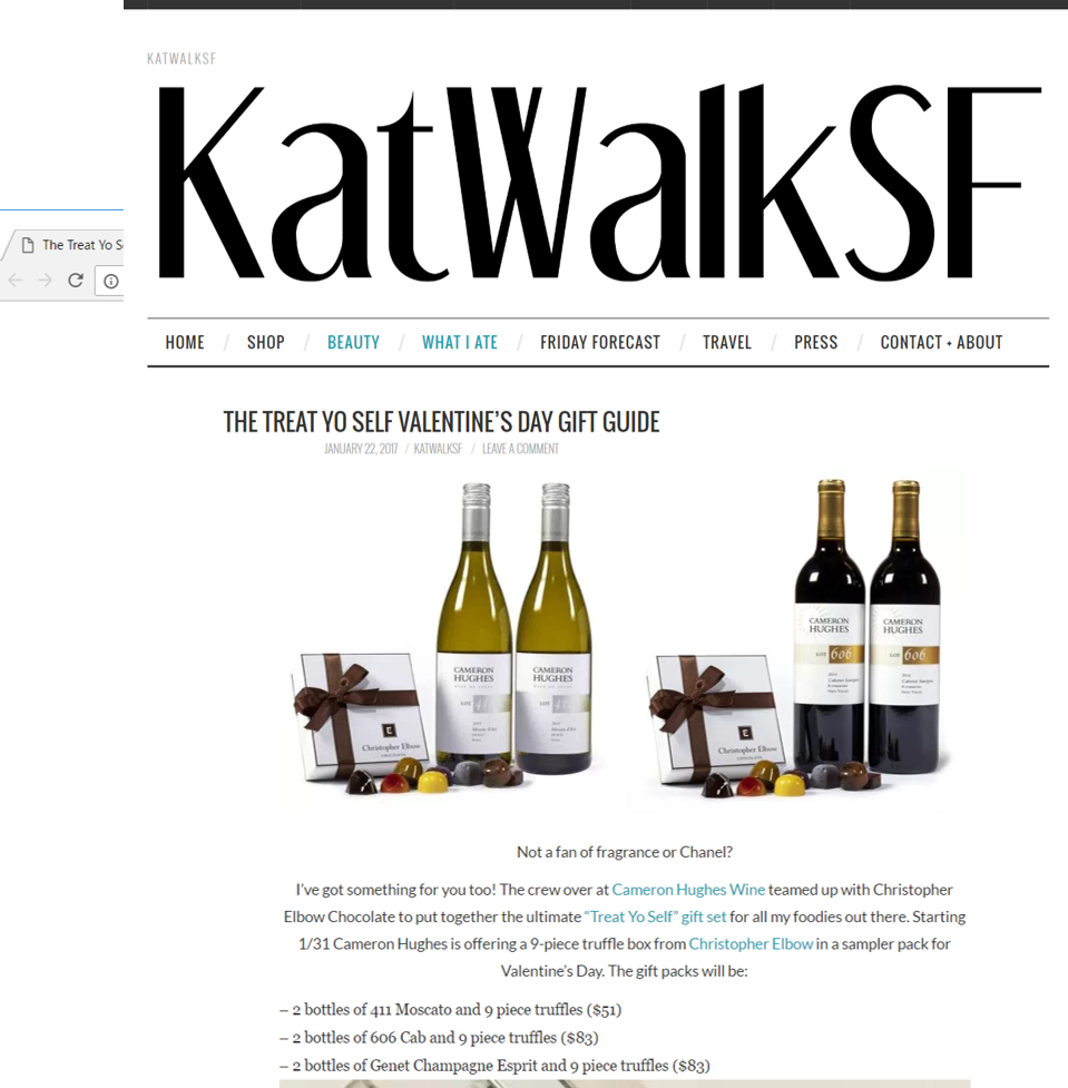 CHW Recommended in KatWalkSF's Valentine Gift Guide