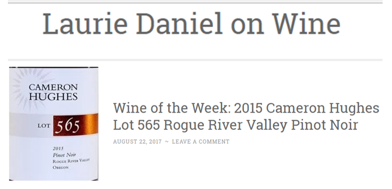 Lot 565: Wine of the Week